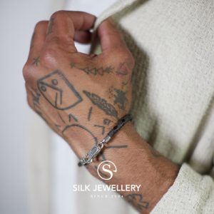 830BBR Silk armband
