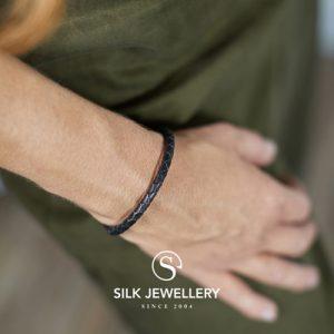 830BLK Silk armband