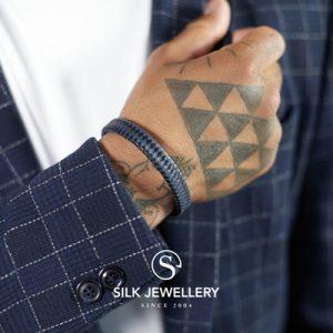 841BBU Silk armband