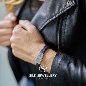 841BLK Silk armband
