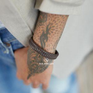 841BRN Silk armband