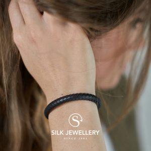 853BLK Silk armband