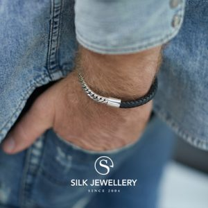 854BLK Silk armband