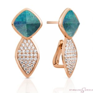 EAR06-G18 Sparkling Jewels oorbellen