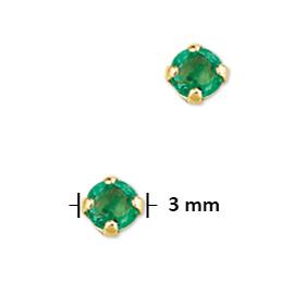 040-00969K Oorstekers Smaragd