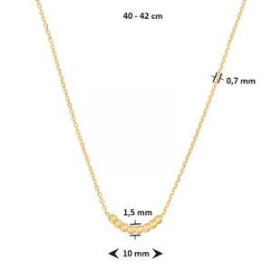 040-22570K Collier Bolletjes