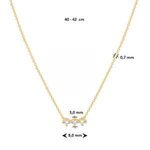 040-22576K Collier Zirkonia