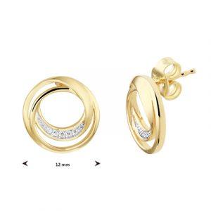 040-22756K Oorstekers Rond Diamant