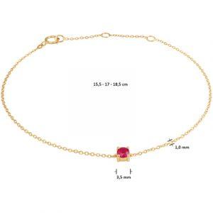 040-22809K Armband Robijn