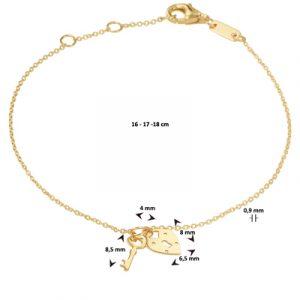 040-22817K Armband Hart en Sleutel
