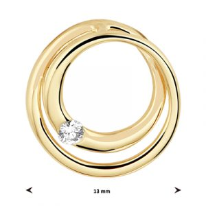 040-22851K Hanger Rond Diamant