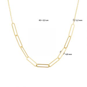 040-22868K Collier paperclip GG