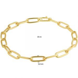 040-22878K Armband c.f.e. massief GG