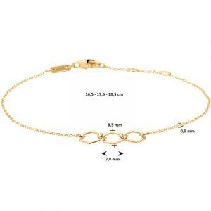 040-23074K Armband Zeshoeken GG