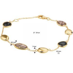 040-23146K Armband zwart rutiel en onyx GG