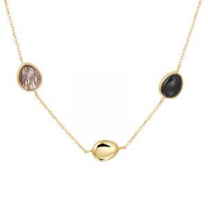 040-23147K Collier zwart rutiel en onyx GG