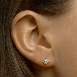 041-05446K Oorstekers rond Diamant