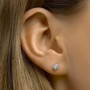 041-05455K Oorstekers rond Diamant