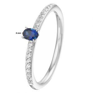 041-05460K Ring Saffier en Diamant