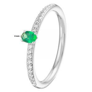 041-05464K Ring Smaragd en Diamant