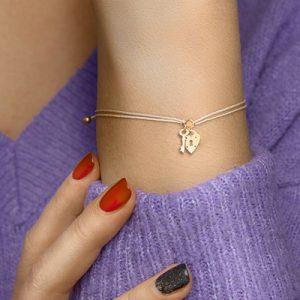 047-00153K Armband Hart en Sleutel