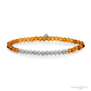 SB-GEM38-3MM-CHAM Sparkling Jewels Armband