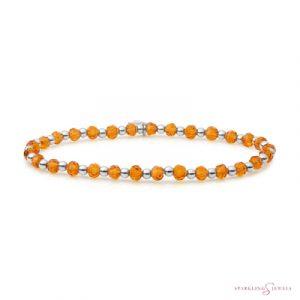 SB-GEM38-3MM-MIX Sparkling Jewels Armband