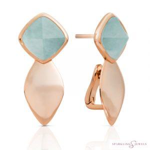 EAR05-G12 Sparkling Jewels Amazoniet