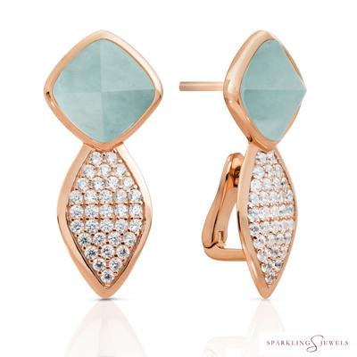 EAR06-G12 Sparkling Jewels Amazoniet