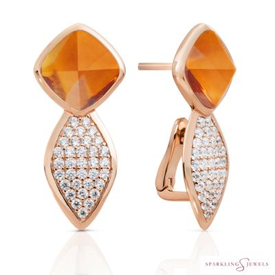 EAR06-G38 Sparkling Jewels Kwarts