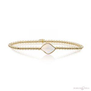SB-G-3MM-BSG14 Sparkling Jewels Armband