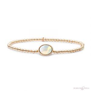 SB-G-3MM-TG14 Sparkling Jewels Armband