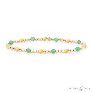 SB-G-MIX-SQ01 Sparkling Jewels Armband