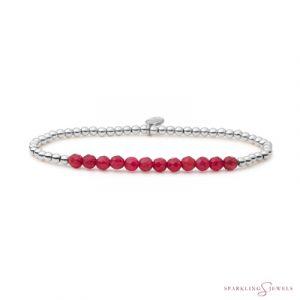 SB-GEM39-3MM-LINE Sparkling Jewels Armband