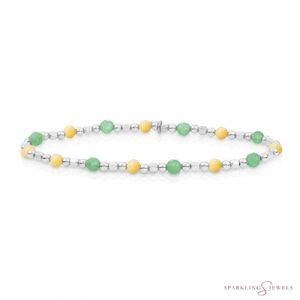 SB-S-MIX-SQ01 Sparkling Jewels Armband