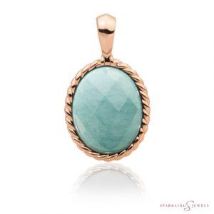 SPRG21-G12 Sparkling Jewels Pendant Amazoniet